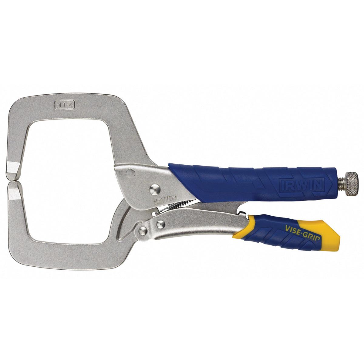 Щипцы-зажим С-типа Irwin 11R с пластиковыми ручками, длина 27,5 см10507189Зажимные щипцы Irwin типа С c неподвижными губками можно легко использовать одной рукой. Благодаря дополнительному пространству для пальцев это идеальный инструмент для тех, кто предпочитает работать в перчатках. Легкость и контроль во время открытия щипцов без применения дополнительной силы. Без вероятности защемления пальцев. Регулировочный винт с торцевой головкой под шестигранный торцевой ключ обеспечивает контролируемое разжатие губок и надежное закрепление деталей. Максимальное раскрытие 100 мм.