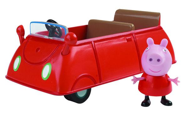 Игровой набор Peppa Pig Машина Пеппы19068Мультфильм Свинка Пеппа настолько обожаем малышами, что они ждут каждую его серию с огромным нетерпением. А с игровым набором Машина Пеппы можно, не дожидаясь новых приключений героев, создавать их самим! Пеппа - это веселая свинка, которая любит играть со своим братиком и друзьями, обожает прыгать по лужам и наряжаться. Игровой набор Peppa Pig Машина Пеппы содержит машинку и фигурку свинки Пеппы с подвижными ручками ножками. Во время сюжетно-ролевой игры у ребенка отрабатываются навыки общения, вырабатываются семейные и общечеловеческие ценности, развиваются кругозор, словарный запас и воображение. И все это сопровождается бурным восторгом от увлекательной игры с любимыми персонажами, которые могут сидеть, стоять, двигать ручками и ножками! Порадуйте своего ребенка таким замечательным подарком!