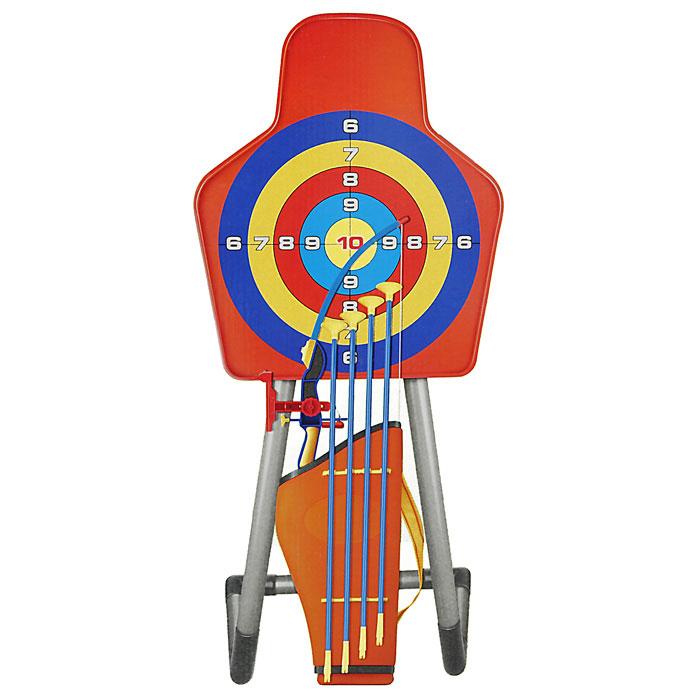 Игровой набор Far&Near Лук со стреламиFN-T0475SETЯркий игровой набор Far&Near Лук со стрелами привлечет внимание вашего ребенка и не позволит ему скучать. В комплект с луком входят четыре пластиковые стрелы с присосками, пластиковый колчан, мишень и стойка для крепления мишени. На луке имеется лазерный прицел. Этот игровой набор поможет ребенку весело провести время на свежем воздухе! Игра с луком поможет ребенку в развитии меткости, ловкости, координации движений и сноровки.