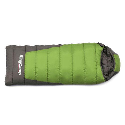 Спальный мешок KingCamp Explorer 300 KS3149, левосторонняя молния, цвет: зеленый, серыйУТ-000050553Трехсезонный спальный мешок-одеяло KingCamp Explorer 300 с подголовником - незаменимая вещь для любителей уюта и комфорта во время активного отдыха. Спальный мешок закрывается на двустороннюю застежку-молнию. Теплый спальный мешок спасет вас от холода во время туристического похода, поездки на рыбалку даже в межсезонье и зимой. Спальный мешок упакован в удобный нейлоновый чехол для переноски.
