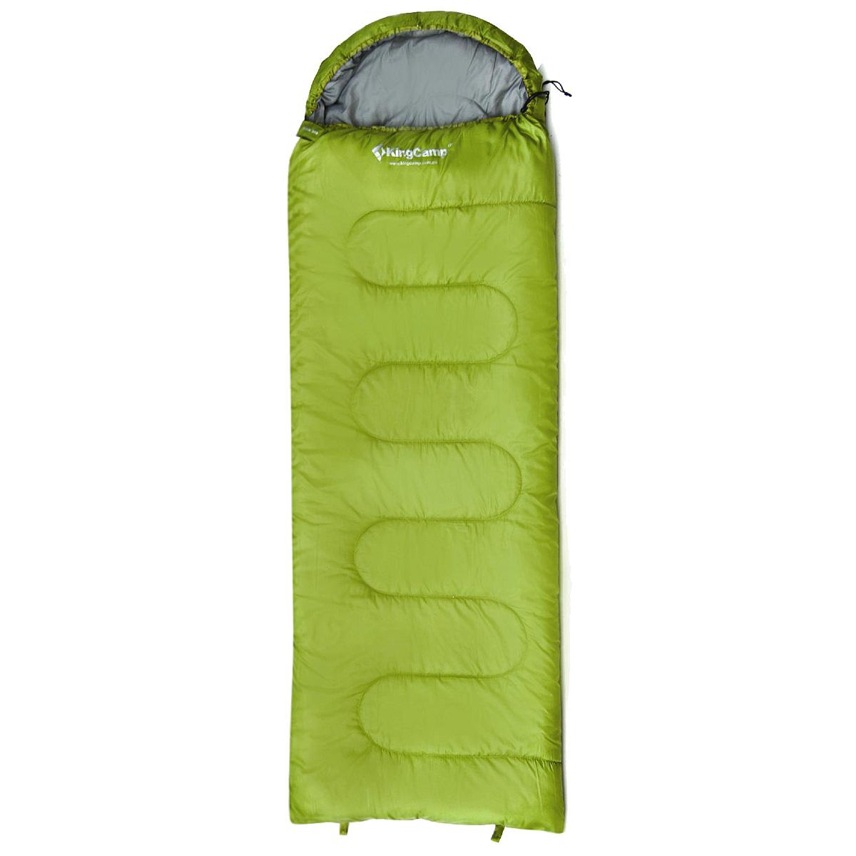 Спальный мешок-одеяло KingCamp Oasis 300 KS3151, правосторонняя молния, цвет: зеленыйУТ-000050571Комфортный спальник-одеяло имеет прямоугольную форму и одинаковую ширину как вверху, так и внизу, благодаря чему ноги чувствуют себя более свободно. Молния располагается на боковой стороне, благодаря чему при её расстёгивании спальник превращается в довольно большое одеяло.