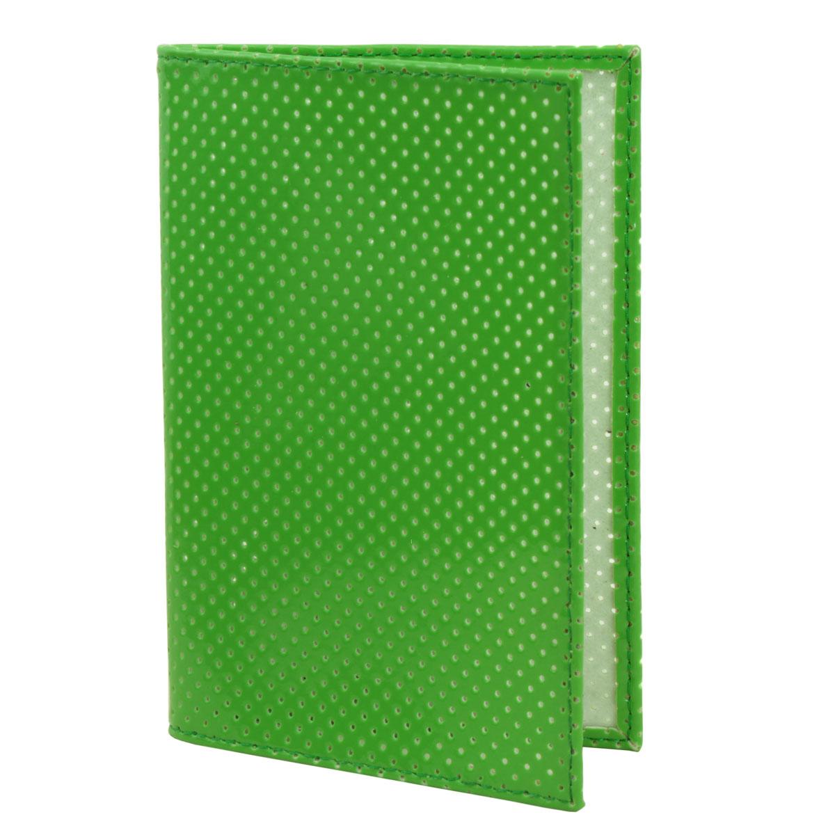 Обложка для паспорта Dimanche, цвет: зеленый. 230/9230/9Обложка для паспорта Demanche выполнена из искусственной кожи с декоративной перфорацией. На внутреннем развороте расположено два вертикальных кармана из прозрачного ПВХ. Обложка не только поможет сохранить внешний вид ваших документов и защитит их от повреждений, но и станет ярким аксессуаром, который подчеркнет ваш образ.