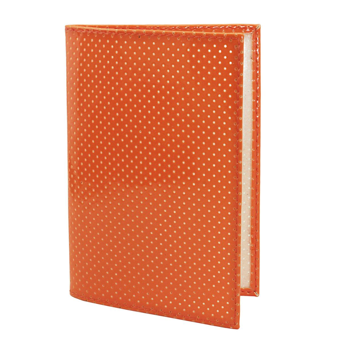 Обложка для паспорта Dimanche, цвет: оранжевый. 230/11230/11Обложка для паспорта Demanche выполнена из искусственной кожи с декоративной перфорацией. На внутреннем развороте расположено два вертикальных кармана из прозрачного ПВХ. Обложка не только поможет сохранить внешний вид ваших документов и защитит их от повреждений, но и станет ярким аксессуаром, который подчеркнет ваш образ.