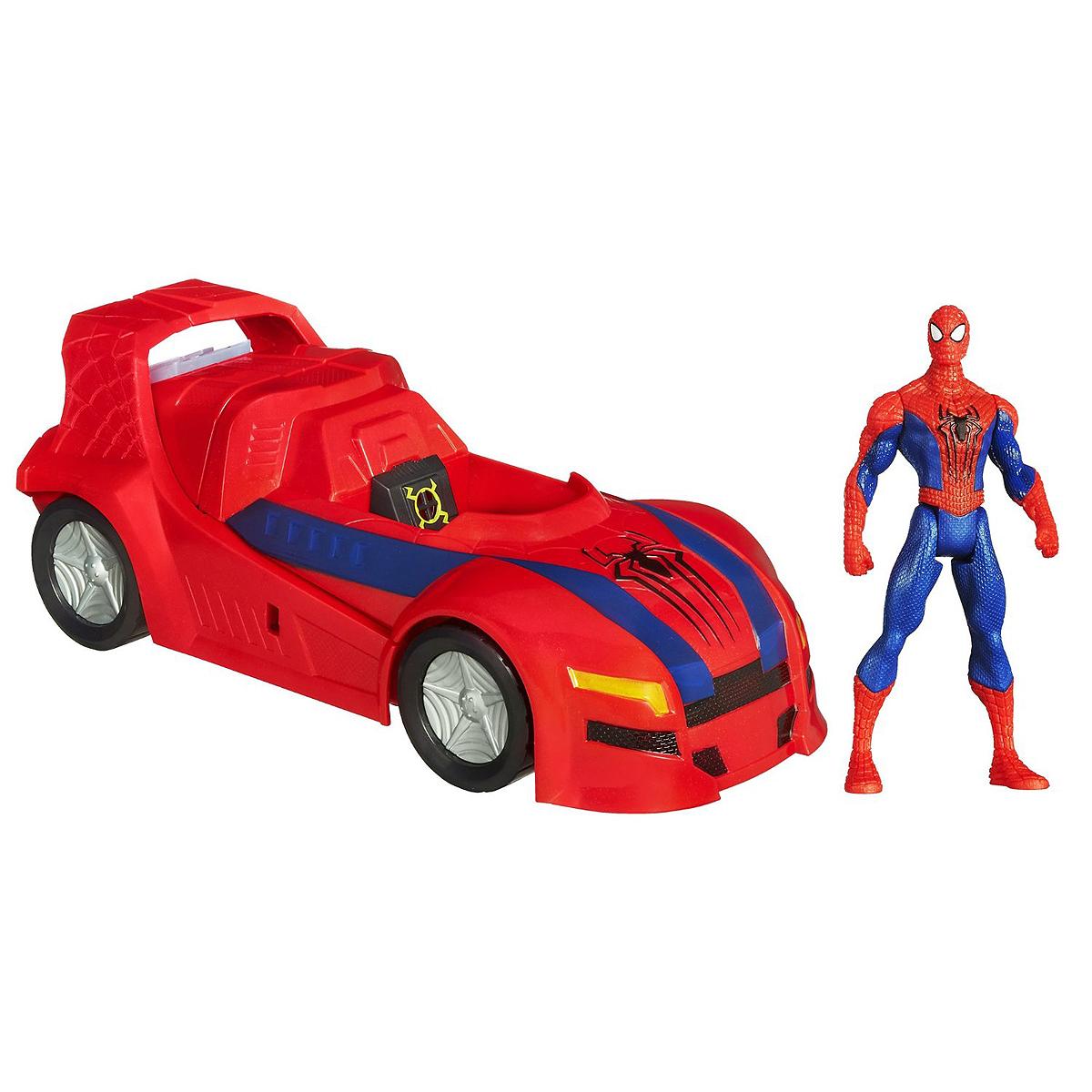 Spider-Man Автомобиль 3 в 1 с фигуркойA6283Игровой набор Spider-Man (Человек-Паук): Автомобиль 3в1 станет отличным подарком любителю комиксов Marvel и даст ребенку уникальную возможность почувствовать себя в гуще событий. Набор состоит из подвижной фигурки, выполненной в виде всем известного Человека-Паука - героя Вселенной Marvel и транспортного средства. Достаточно усадить фигурку Человека-Паука в машину, после чего активируются секретные оружия, находящиеся в крыльях автомобиля (это происходит под действием магнита). Затем следует нажать на кнопку, расположенную в задней части автомобиля, после чего, автомобиль разделится на две части, одна из которых - реактивный ранец, а вторая - трехколесник. Ваш ребенок будет часами играть с набором, придумывая различные истории с участием любимого героя. Порадуйте его таким замечательным подарком!
