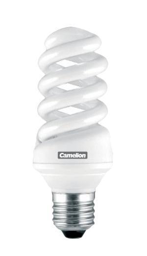 Camelion CF13-AS-T2/827/E14 энергосберегающая лампа, 13ВтCF13-AS-T2/827/E14Энергосберегающая лампа 13Вт Camelion CF13-AS-M/827/E14, 9954 имеет форму спирали, по которой равномерно распределяется световой поток. Лампа излучает теплый яркий свет, который не оказывает негативного влияния на глаза. Может работать в широком диапазоне температур (от -250 С до +400 С) и использоваться для освещения жилых, офисных и складских помещений.