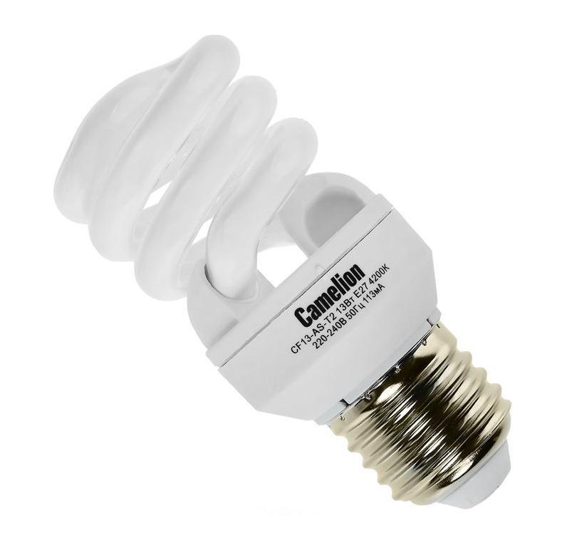 Camelion CF13-AS-T2/842/E27 энергосберегающая лампа, 13ВтCF13-AS-T2/842/E27Энергосберегающие лампы Camelion это экономия до 50% бюджета вашей компании.