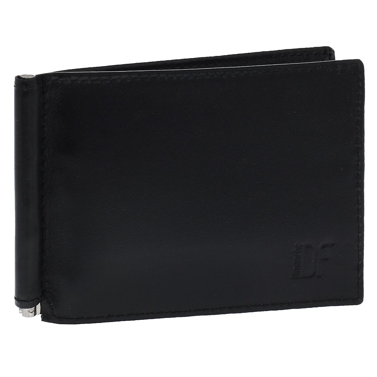 Зажим для денег Dimanche Bond, цвет: черный. 969/1969/1Зажим для денег Dimanche Bond изготовлен из высококачественной натуральной матовой кожи черного цвета. Зажим снабжен фиксирующейся в открытом положении металлической скобой для денег. Внутри также содержится 6 кармашков для пластиковых карт и 2 потайных кармашка. Фурнитура - серебристого цвета. Зажим для денег стильного дизайна идеально дополнит ваш образ и станет незаменимым аксессуаром, который поместится даже в самый маленький карман.