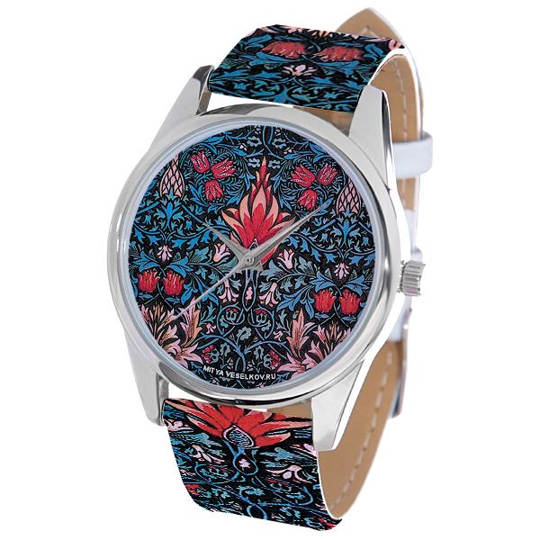 Часы Mitya Veselkov Тюльпановый принт. ART-30ART-30Наручные часы Mitya Veselkov Тюльпановый принт созданы для современных людей, которые стремятся выделиться из толпы и подчеркнуть свою индивидуальность. Часы оснащены японским кварцевым механизмом. Ремешок выполнен из натуральной кожи, корпус изготовлен из стали серебристого цвета. Циферблат оформлен оригинальным принтом. Часы размещаются на специальной подушечке и упакованы в фирменный стакан Mitya Veselkov.