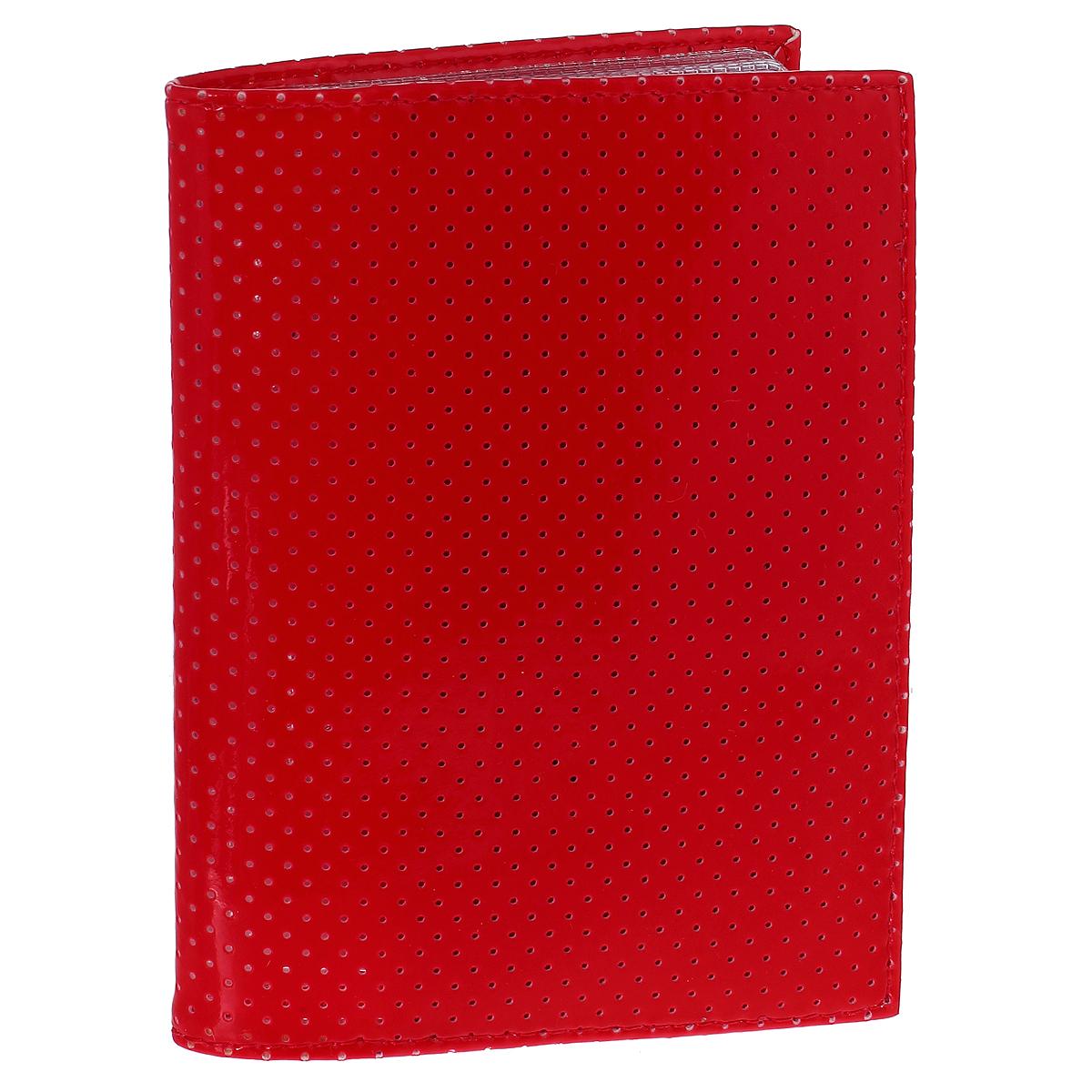 Бумажник водителя Dimanche, цвет: красный. 229/10229/10Бумажник водителя Dimanche изготовлен из искусственной лакированной кожи красного цвета, оформленной мелкой перфорацией. Внутри содержится съемный блок из пяти прозрачных пластиковых файлов. Также имеется четыре кармашка для пластиковых карт и гнездо для сим-карты. Стильный бумажник не только поможет сохранить внешний вид ваших документов и защити их от грязи и пыли, но и станет стильным аксессуаром, идеально подходящим вашему образу.