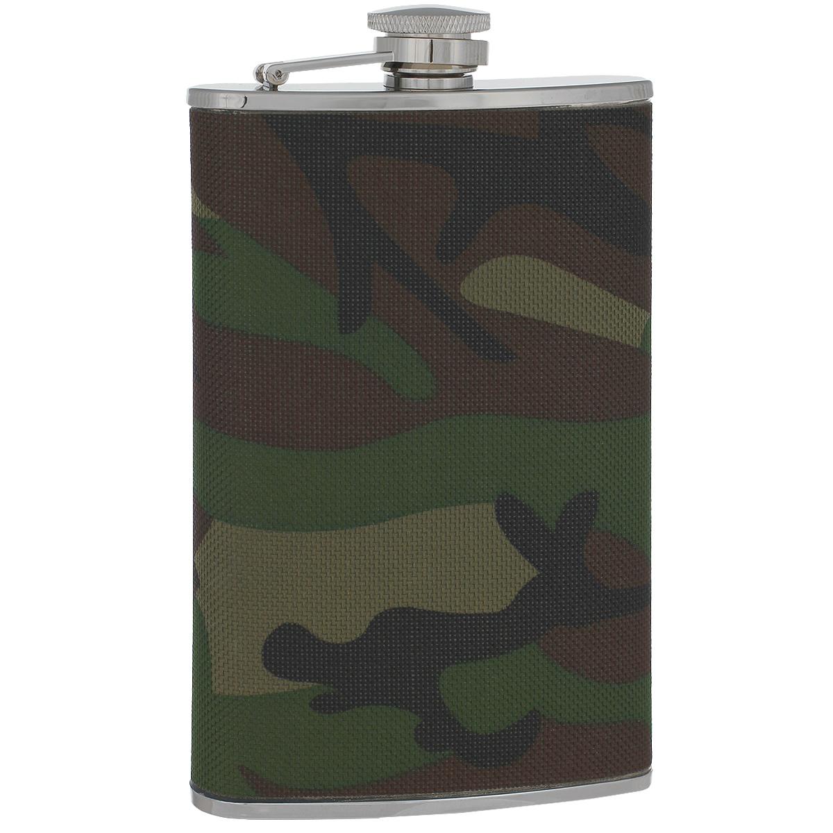 Фляга S.Quire Камуфляж, 270 млTB09-3411NФляга S.Quire изготовлена из нержавеющей стали 18/10 и оформлена текстильной вставкой с рисунком камуфляж. Фляга специально предназначена для хранения алкогольных напитков. Ее нельзя использовать для напитков, содержащих кислоту, таких как сок и сердечные лекарства. Крышка плотно закрывается, предотвращая проливание. Фляга S.Quire - идеальный подарок для настоящих мужчин. Стильный дизайн, компактность и качество изделия, несомненно, порадуют любого мужчину.