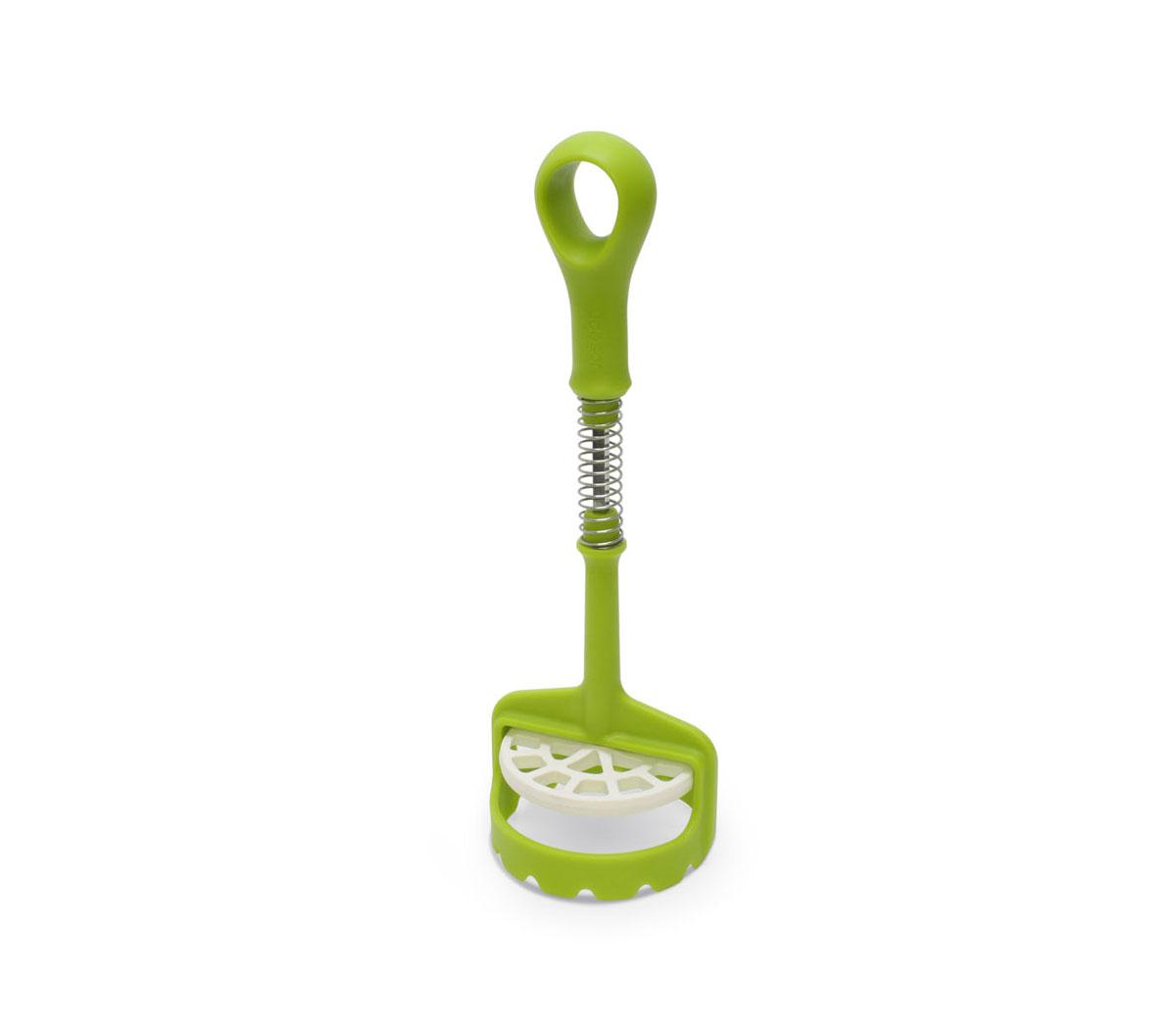 Толкушка Joseph Joseph Smasher, цвет: зеленый, длина 29 смSMG011HCТолкушка Joseph Joseph Smasher изготовлена из пищевого пластика и нержавеющей стали. С этой толкушкой вы сможете приготовить пюре еще быстрее, благодаря механизму пресса. Маленький размер толкушки позволит приготовить пюре в любой емкости. Можно мыть в посудомоечной машине.