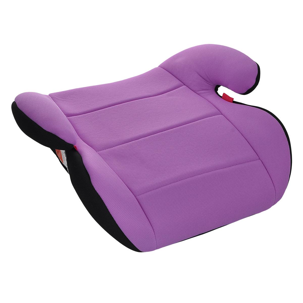 Автокресло-бустер, цвет: черный, фиолетовый. YB804A-02
