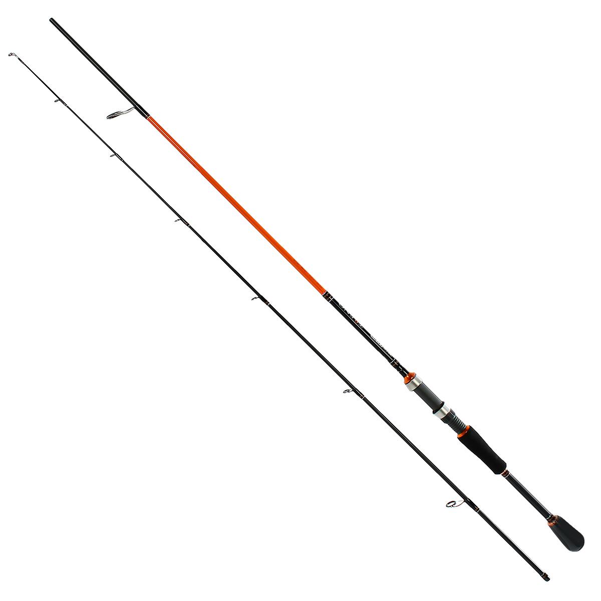 Удилище спиннинговое Team Salmo TRENO, 2,07 м, 7-24 гTSTR2-682FСерия спиннингов TRENO разработана специально для ловли хищной рыбы твичингом и на джиг-приманки. Бланки этой серии изготовлены из усовершенствованного высокомодульного графита 40T, обеспечивающего максимальную прочность, а также высокую чувствительность по всему заявленному тестовому диапазону. Строй бланков быстрый и экстра быстрый. Бланк в основании достаточно толстый, что дает преимущества не только при вываживании крупной рыбы, но и при рывковой проводке воблеров. Несмотря на относительно небольшую длину, спиннинги TRENO обладают отличными бросковыми характеристиками. Спиннинги укомплектованы пропускными кольцами Fuji K-guide со вставками SIC. Наклоненные колечки на вершинке - раннинги и противозахлестный тюльпан, не позволят запутаться за них в сильный ветер даже мягкому PE шнуру. В элегантной и практичной разнесенной рукоятке, из прочного материала EVA, установлен катушкодержатель VSS от Fuji с задней гайкой крепления. Материал ручек жесткий и приятный на ощупь.