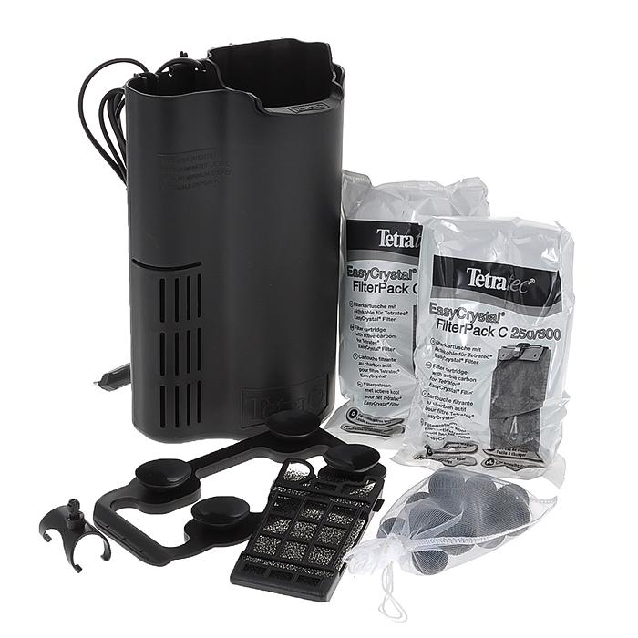 Фильтр внутренний для аквариумов Tetra EasyCrystal Filter Box 300, 40-60 л151574Фильтр внутренний для аквариумов Tetra EasyCrystal Filter Box 300 - это компактный аквариумный комплект, позволяющий сэкономить место в аквариуме, с отделом для терморегулятора, для оптимальной фильтрации аквариумной воды. Дополнительный отдел позволяет интегрировать терморегулятор в фильтр EasyCrystal FilterBox (терморегулятор не входит в комплект и приобретается отдельно. Рекомендуется терморегулятор Tetra HT 50); Фильтр позаботится посредством механической, биологической и химической очистки о прозрачной, здоровой воде; Механическая очистка: двусторонняя фильтрующая губка для надежного удаления мельчайших частичек грязи. Белая сторона для предварительной фильтрации, зеленая сторона для тщательной тонкой фильтрации; Биологическая фильтрация: фильтрующая губка и био-шарики с особенно большой поверхностью, способствующей заселению полезных бактерий; Химическая фильтрация - специальный активированный уголь борется с загрязнением...