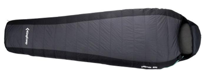 Спальный мешок KingCamp Compact 850L KS3180, правосторонняя молния, цвет: серыйУТ-000055682Просторный летный спальник-кокон KingCamp Compact 850L с подголовником, который вполне подойдет рослому и широкоплечему представителю сильной половины человечества. При этом спальный мешок очень легкий (всего 950 г). Синтетический пух Micro Loft, плотностью 90г/м2, обеспечивает хорошую теплоизоляцию, и позволяет даже в прохладные ночи чувствовать себя вполне комфортно. Идеальным вариантом спальник-кокон станет для тех, кто много времени проводит с рюкзаком за плечами. Прочный нейлон, которым покрыт спальник, весьма практичен. Внешний материал: нейлон Ripstop 210T. Внутренний материал: полиэстер 240T. Утеплитель: 1 слой 90 г/м2 Micro Loft.