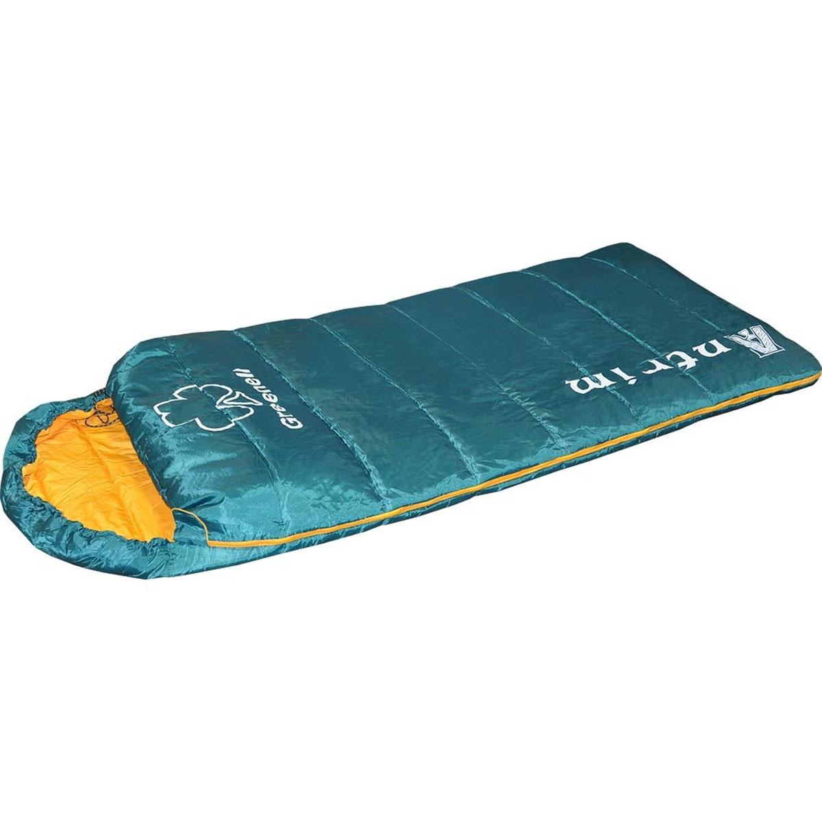 Спальный мешок Greenell Антрим, левосторонняя молния, цвет: зеленый34013-303-00Летний спальник Greenell Антрим изготовлен в форм-факторе мешок-одеяло с подголовником. Антрим имеет большой внутренний объем и ориентирован на использование людьми, крупной комплекции, а для капризных путешественников, любящих особый комфорт это единственный и необходимый вариант для полноценного ночлега! Легкий спальник Greenell Антрим имеет удобный кармашек внутри для личных вещей, очков, контактных линз и другой ночной атрибутики. В свернутом виде спальник помещается в компрессионный мешок и занимает минимум места в рюкзаке или багажном отделении автомобиля. Ткань верха спального мешка обработана влагостойкой пропиткой. Гиппоалергенный материал утеплителя холлофайбер не сминается, быстро сохнет и обладает отличными теплосберегающими свойствами. Особое расположение швов предотвращает миграцию утеплителя внутри спального мешка. При необходимости двухзамковая молния позволяет состегнуть два однотипных спальника, образуя просторную спарку для отдыха всей семьей....