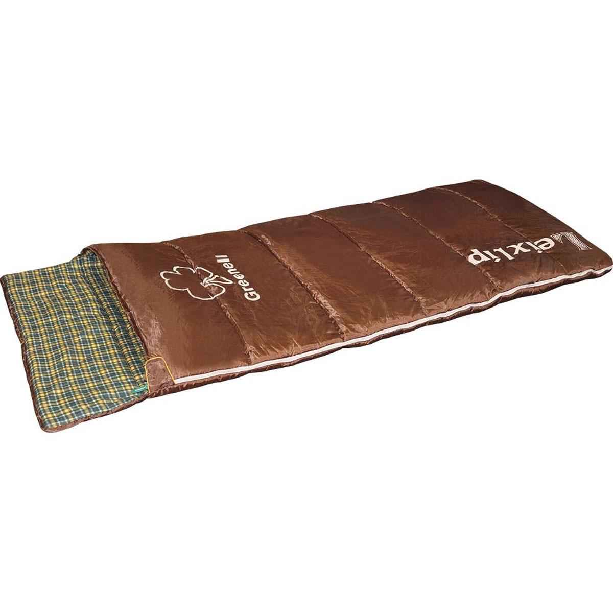"""Спальный мешок Greenell """"Лейкслип"""", левосторонняя молния, цвет: коричневый 34023-224-00"""