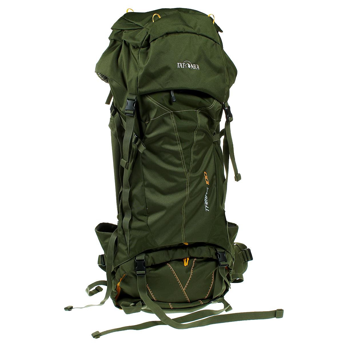 Туристический рюкзак Tatonka TAMAS 100, цвет: темно-зеленый6027.036Вместительный рюкзак Tatonka TAMAS 100 - это отличный выбор для походов на байдарках - алюминиевые шины легко вытаскиваются из спины рюкзака и рюкзак можно компактно сложить и убрать в лодку. Особенности рюкзака: Подвеска: Y1 Материал: Textreme 6.6 Система переноски: Y1 Широкий поясной ремень Лямки регулируются по высоте, длине и плотности прилегания к рюкзаку Крышка рюкзака регулируется по высоте.