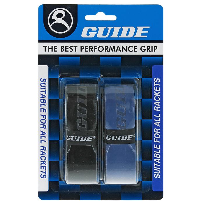Обмотка для ракетки Guide Replacement Grip, цвет: черный, синий, 2 шт ( 350-BB #HC-SP3N blck-blue )