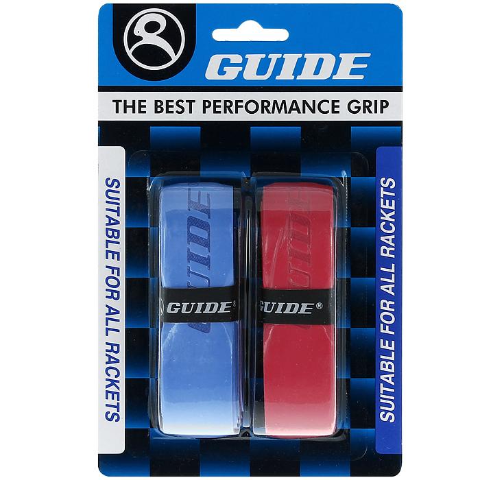 Обмотка для ракетки Guide Replacement Grip, цвет: синий, красный, 2 шт350-BR #HC-SP3N blue-redОбмотка Guide имеет среднюю толщину, отлично впитывает влагу, а также наделена противоскользящим свойством. Она не уступает по качеству продукции компании Yonex, опережая по показателям другие мировые бренды.