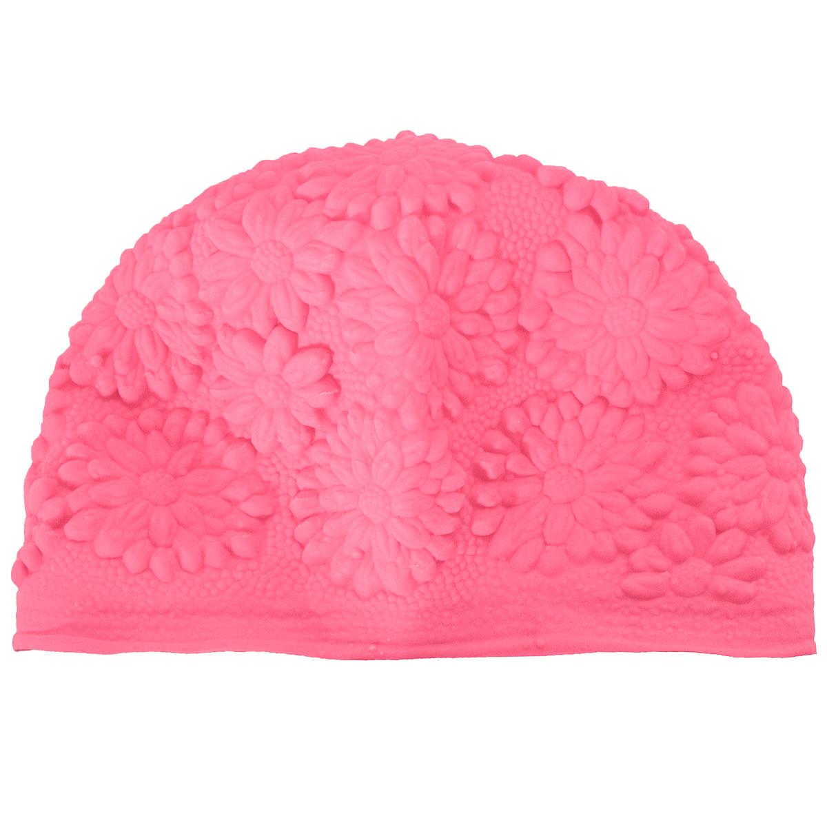 Шапочка для плавания MadWave Hawaii Chrysanthemum, женская, цвет: розовыйM0517 01 0 11WЛатексная шапочка для плавания MadWave Hawaii Chrysanthemum декорирована цветочным рельефом. Имеет превосходную эластичность и высокий уровень комфорта. Высококачественный материал обеспечивает долгий срок службы. Пузырьковая поверхность уменьшает площадь соприкосновения с волосами. Обхват головы: 53 см.