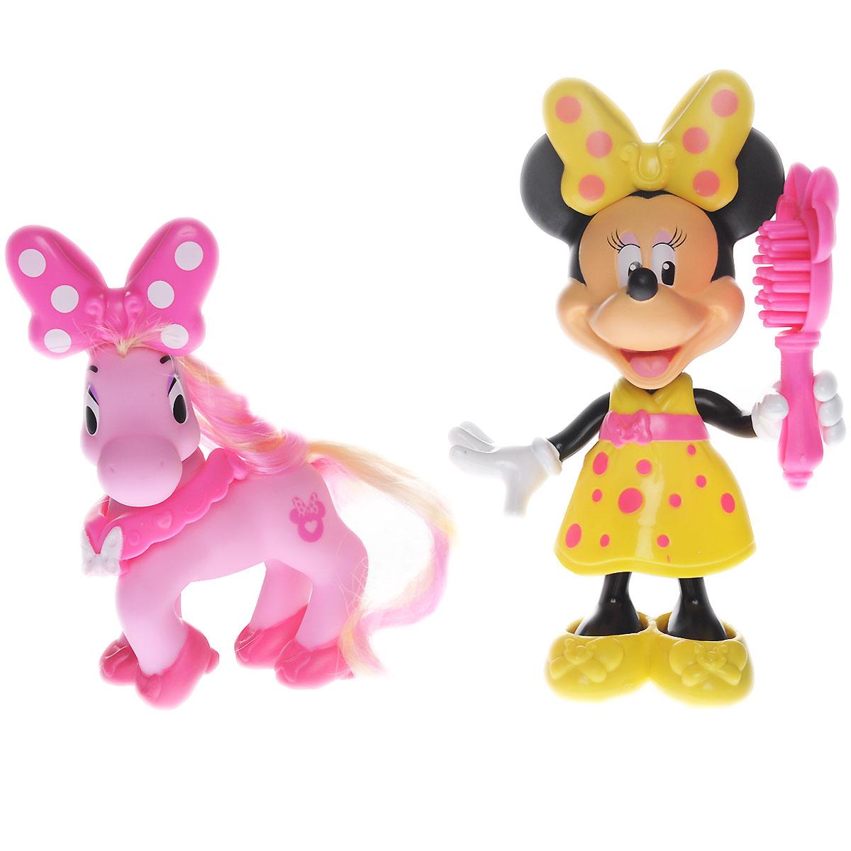 Minnie Mouse Игровой набор с мини-фигуркой Минни Маус с пониBMK17_BJN95Игровой набор Minnie Mouse Минни Маус с пони привлечет внимание вашей малышки и не позволит ей скучать. Набор включает в себя фигурку Минни в желтом платье и туфельках, фигурку пони с длинной гривой и хвостом, а также расческу и два бантика, которыми фигурки могут обмениваться. Ваш ребенок часами будет играть с набором, придумывая разные истории. Порадуйте его таким замечательным подарком!