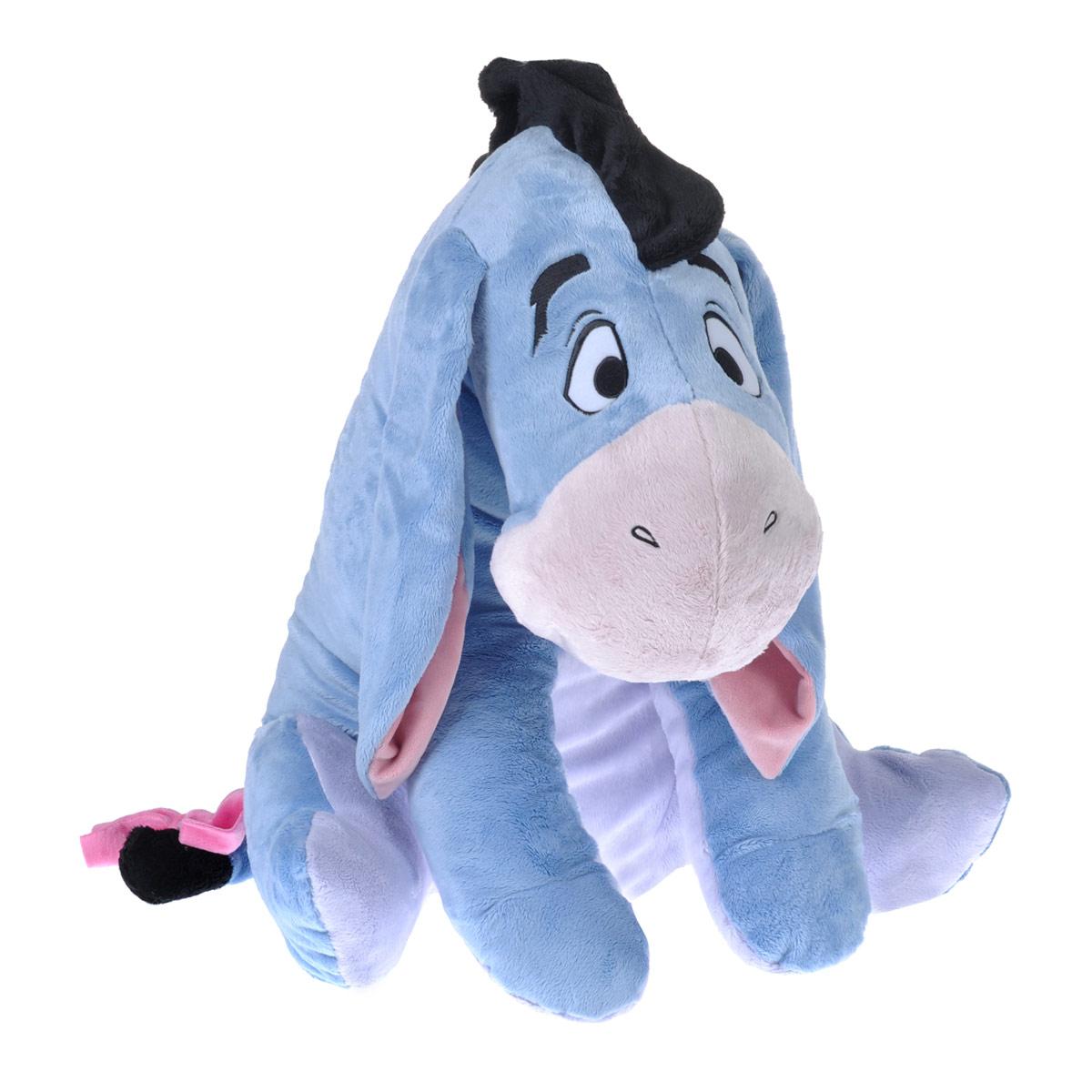 Мягкая игрушка Disney Ослик Ушастик, цвет: голубой, 80 см1100057Мягкая игрушка Disney Ушастик станет любимой игрушкой вашего ребенка. Она выполнена в виде ослика Ушастика - героя популярного диснеевского мультсериала о приключениях Винни-Пуха и его друзей. Игрушка удивительно приятна на ощупь. Она изготовлена из мягкого текстильного материала голубого цвета, глазки вышиты нитками. Чудесная мягкая игрушка принесет радость и подарит своему обладателю мгновения нежных объятий и приятных воспоминаний. Компания Disney предъявляет большие требования к качеству продукции: все плюшевые герои соответствуют своим мультяшным прототипам, а самое главное - производятся в соответствии с мировыми стандартами качества и соответствуют российским требованиям безопасности.