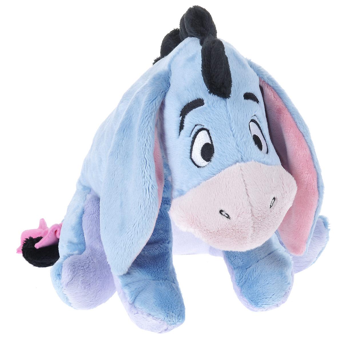Мягкая игрушка Disney Ослик Ушастик, цвет: голубой, 35 см1100045Мягкая игрушка Disney Ушастик станет любимой игрушкой вашего ребенка. Она выполнена в виде ослика Ушастика - героя популярного диснеевского мультсериала о приключениях Винни-Пуха и его друзей. Игрушка удивительно приятна на ощупь. Она изготовлена из мягкого текстильного материала голубого цвета, глазки вышиты нитками. Чудесная мягкая игрушка принесет радость и подарит своему обладателю мгновения нежных объятий и приятных воспоминаний. Компания Disney предъявляет большие требования к качеству продукции: все плюшевые герои соответствуют своим мультяшным прототипам, а самое главное - производятся в соответствии с мировыми стандартами качества и соответствуют российским требованиям безопасности.