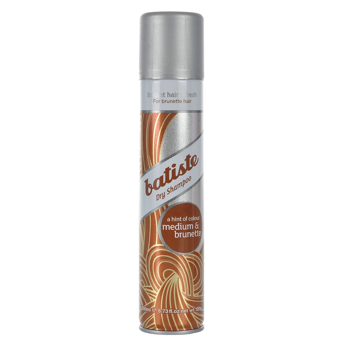 """Batiste Сухой шампунь для волос """"Medium"""", для шатенок и брюнеток, 200 мл"""