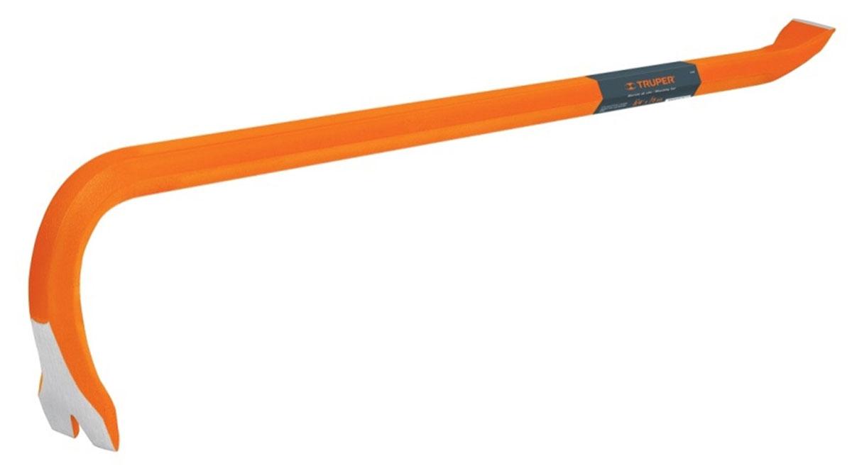 Монтировка-гвоздодер Truper, 46 смBU-45Монтировка-гвоздодер Truper с шестигранным профилем используется для удобного извлечения гвоздей с большим усилием. Инструмент изготовлен из высококачественной кованной стали.