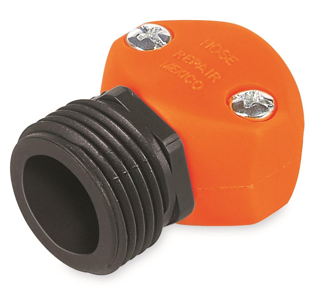 Коннектор ремонтный для шланга Truper, пластиковый, папа, 1/2REM-1/2Шланговый коннектор Truper, выполненный из пластика, предназначен для быстрого и многократного присоединения и отсоединения шланга к насадкам или крану. Тип соединения папа.