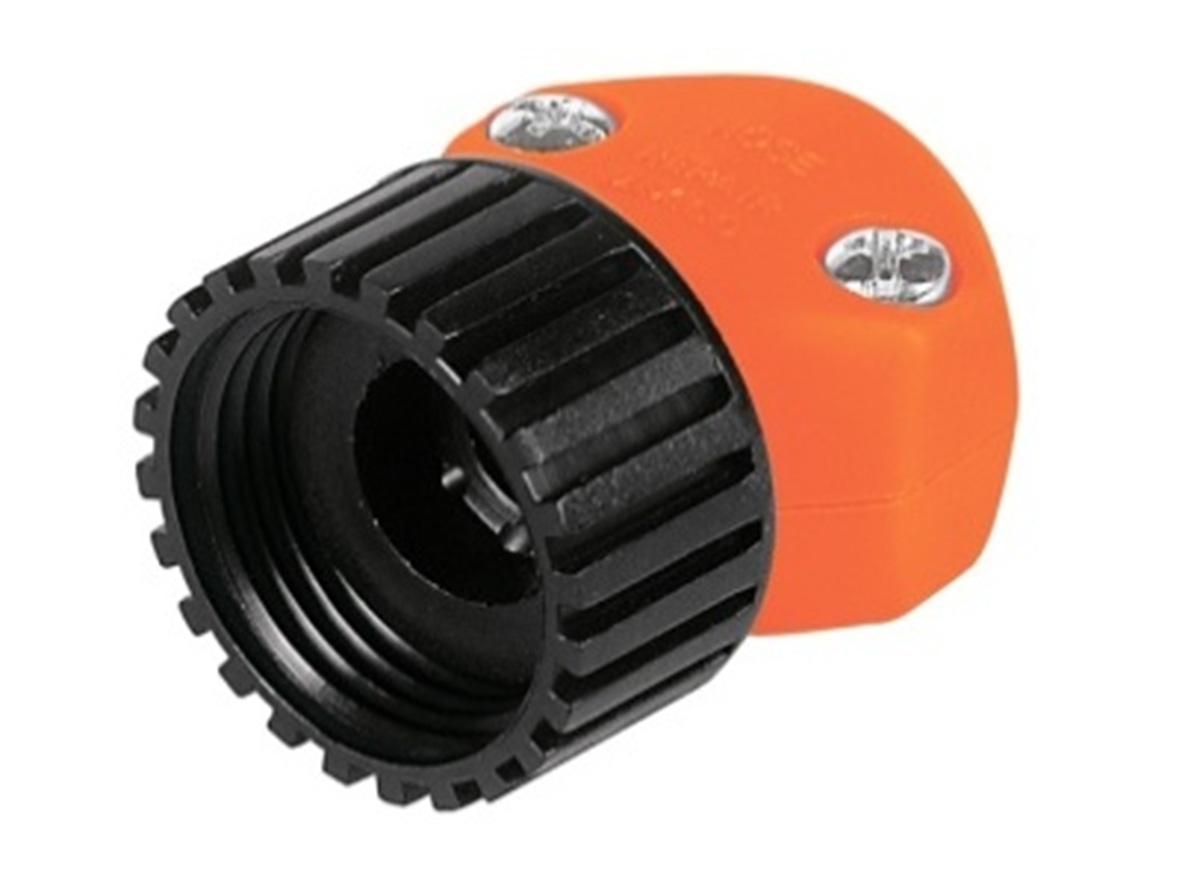 Коннектор ремонтный для шланга Truper, пластиковый, мама, 5/8-3/4REF-5/8-3/4Шланговый коннектор Truper, выполненный из пластика, предназначен для быстрого и многократного присоединения и отсоединения шланга к насадкам или крану. Тип соединения мама.