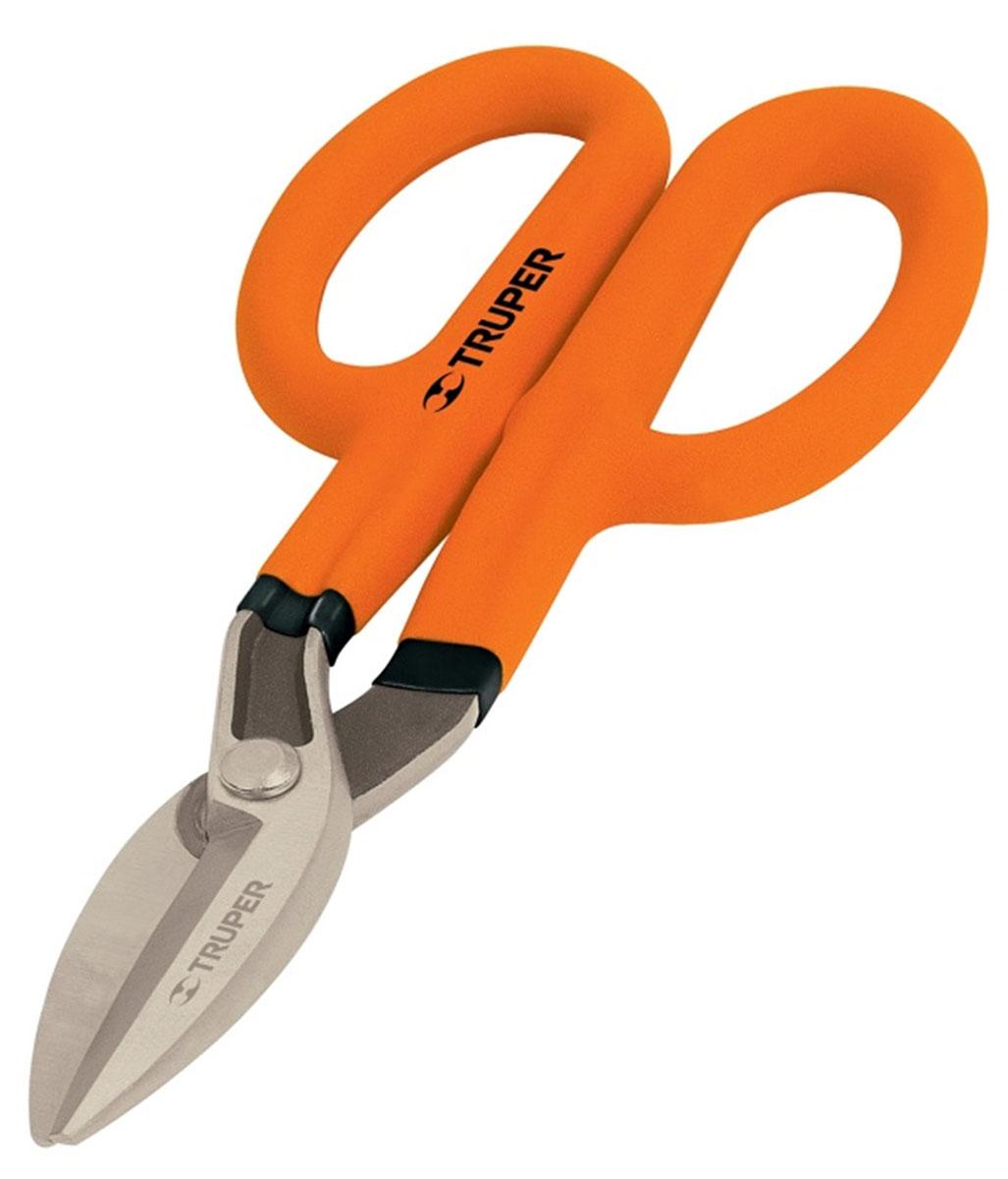 Ножницы по металлу Truper, 27,94 смTH-11Ножницы Truper предназначены для реза листового металла. Могут использоваться также для резки алюминия, листового НПВХ, металлической сетки, кожи, меди и пластика. Виниловые ручки обеспечивают надежный хват. Сатинированные лезвия в 3 раза меньше подвержены коррозии.