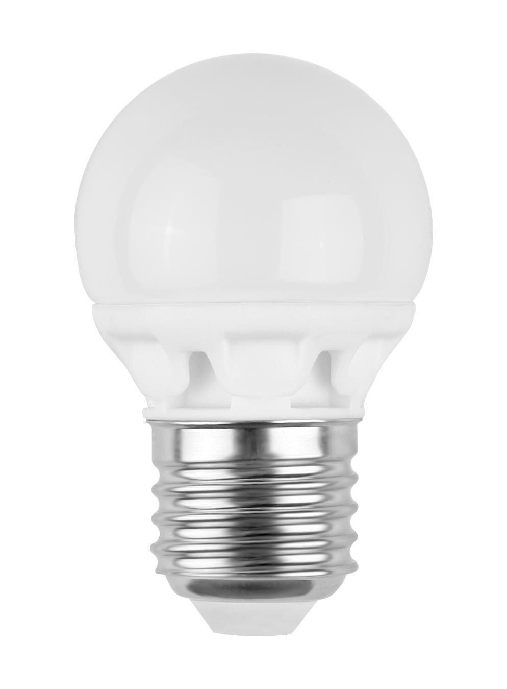 Camelion LED3-G45/845/E27 светодиодная лампа, 3ВтLED3-G45/845/E27Экономят до 80% электроэнергии по сравнению с обычными лампами накаливания такой же яркости. Низкое тепловыделение во время работы лампы - возможность использования в светильниках, критичных к повышенному нагреву. Встроенный ЭПРА - возможность прямой замены ламп накаливания. Универсальное рабочее положение. Включение без мерцания. Отсутствие стробоскопического эффекта при работе. Равномерное распределение света по колбе - мягкий свет не слепит глаза. Высокий уровень цветопередачи (Ra не менее 82) - естественная передача цветов. Широкий температурный диапазон эксплуатации (от -15 oC до +40 oC) - возможность использования ламп вне помещений. Рабочий диапазон напряжений - 220-240В / 50Гц Возможность выбора света различного спектрального состава - теплый белый, холодный белый и дневной белый свет. Компактные размеры - возможность использовать практически в любых светильниках, где применяются лампы накаливания.