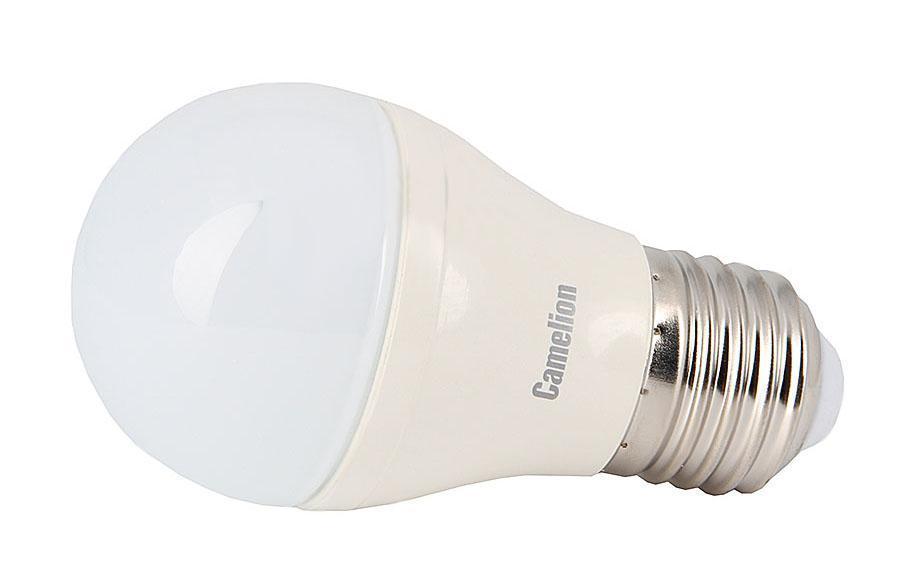 Camelion LED6.5-G45/830/E27 светодиодная лампа, 6,5ВтLED6.5-G45/830/E27Светодиодная рефлекторная лампа Camelion применяется для замены энергосберегающей лампы или лампы накаливания в точечных и направленных источниках света. При этом она сэкономит ваши деньги за счет минимального потребления электроэнергии и долгого срока службы. Так же эта лампа обладает высоким индексом цветопередачи и не мерцает, что делает ее свет комфортным для глаз. Нагрев LED лампы минимален, что позволяет использовать ее в натяжных потолках и других конструкциях, требовательных к температурному режиму. А когда она все-таки перегорит, не нужно задумываться о ее переработке, так как при производстве светодиодных ламп не используются вредные вещества, в том числе ртуть.