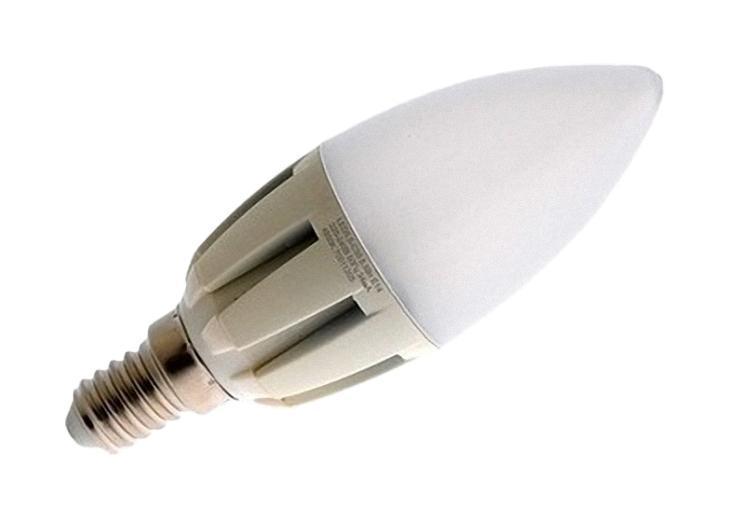 Camelion LED5.5-C35/830/E14 светодиодная лампа, 5,5ВтLED5.5-C35/830/E14Экономят до 80% электроэнергии по сравнению с обычными лампами накаливания такой же яркости. Низкое тепловыделение во время работы лампы - возможность использования в светильниках, критичных к повышенному нагреву. Встроенный ЭПРА - возможность прямой замены ламп накаливания. Универсальное рабочее положение. Включение без мерцания. Отсутствие стробоскопического эффекта при работе. Равномерное распределение света по колбе - мягкий свет не слепит глаза. Высокий уровень цветопередачи (Ra не менее 82) - естественная передача цветов. Широкий температурный диапазон эксплуатации (от -15 oC до +40 oC) - возможность использования ламп вне помещений. Рабочий диапазон напряжений - 220-240В / 50Гц Возможность выбора света различного спектрального состава - теплый белый, холодный белый и дневной белый свет. Компактные размеры - возможность использовать практически в любых светильниках, где применяются лампы накаливания.