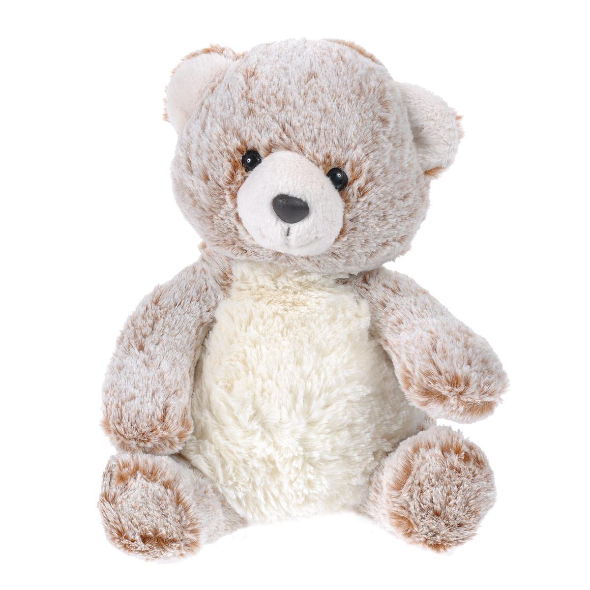 """Мягкая игрушка Aurora """"Медведь"""", цвет: белый, коричневый, 30 см"""