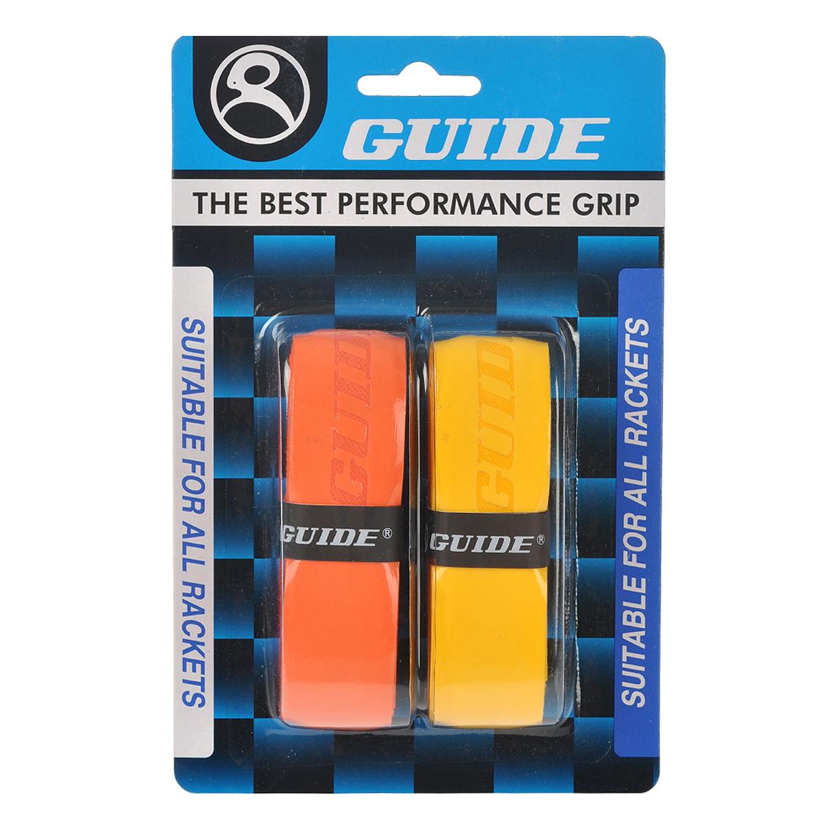 Обмотка для ракетки Guide Replacement Grip, цвет: оранжевый, желтый, 2 шт ( 350-OY #HC-SP3N or-ye )