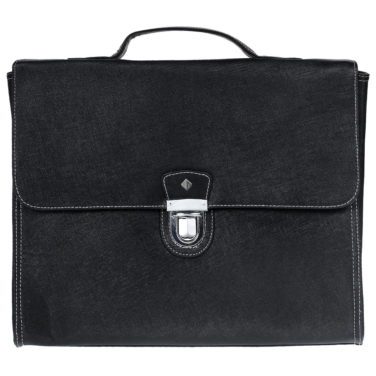 """Портфель мужской """"Flioraj"""", цвет: черный. 81240-05"""