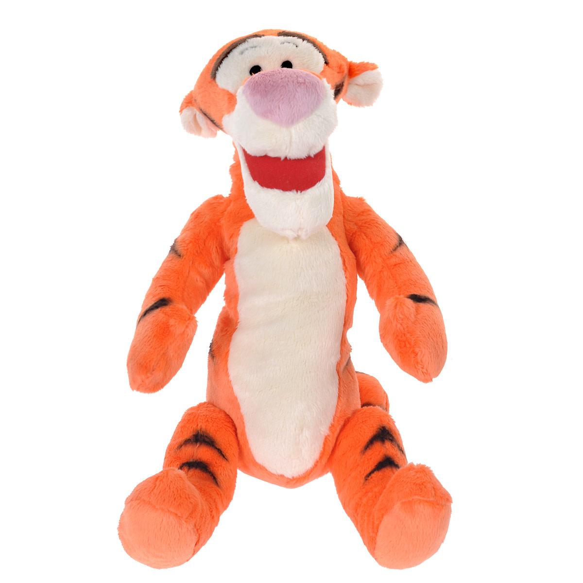 Мягкая игрушка Disney Тигруля, цвет: оранжевый, 80 см1100056Мягкая игрушка Disney Тигруля станет любимой игрушкой вашего ребенка. Она выполнена в виде Тигрули - героя популярного диснеевского мультсериала о приключениях Винни-Пуха и его друзей. Игрушка удивительно приятна на ощупь. Она изготовлена из мягкого текстильного материала, глазки вышиты нитками. Чудесная мягкая игрушка принесет радость и подарит своему обладателю мгновения нежных объятий и приятных воспоминаний. Компания Disney предъявляет большие требования к качеству продукции: все плюшевые герои соответствуют своим мультяшным прототипам, а самое главное - производятся в соответствии с мировыми стандартами качества и соответствуют российским требованиям безопасности.
