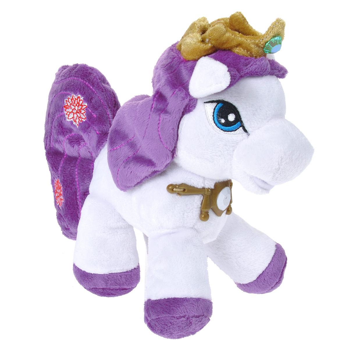 Мягкая игрушка Filly Лошадка Филли Эльф, 30 см27-77Мягкая игрушка Filly Лошадка Филли Эльф непременно понравится вашей малышке. Она выполнена из приятного на ощупь текстильного материала розового цвета в виде лошадки Филли - Эльфа. У лошадки вышиты глазки, на груди у нее пластиковый золотистый значок, на голове - мягкая золотистая корона с кристаллом. Игрушка подарит своему обладателю хорошее настроение и принесет много радости. Порадуйте своего ребенка таким замечательным подарком!