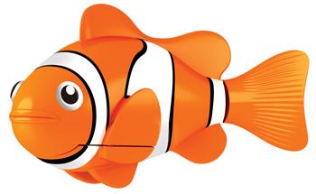 Игрушка для ванны Robofish РобоРыбка: Клоун, цвет: оранжевый, белый2501-4Игрушка для ванны Robofish РобоРыбка: Клоун понравится вашему малышу и превратит купание в веселую игру. Она выполнена из безопасного пластика с элементами металла в виде маленькой красочной акулы. При погружении в ванну, аквариум или другую емкостью с водой РобоРыбка начинает плавать, опускаясь ко дну и поднимаясь к поверхности воды. Акула прекрасно имитирует повадки настоящей рыбы. Траектория ее движения зависит от наклона хвоста. Внутри рыбки находится специальный грузик, регулирующий глубину ее погружения. Если рыбка плавает на дне, не всплывая, - уберите грузик; если на поверхности - добавьте грузик. Набор включает подставку, на которой можно разместить рыбку, пока вы с ней не играете. Порадуйте вашего ребенка таким замечательным подарком! Игрушка работает от 2 батарей напряжением 1,5V типа LR44 (2 установлены в игрушку и 2 запасные).