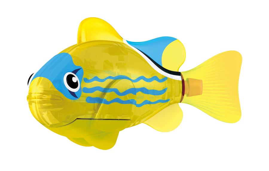 Игрушка для ванны Robofish Светодиодная РобоРыбка: Желтый фонарь, цвет: желтый2541DИгрушка для ванны Robofish Светодиодная РобоРыбка понравится вашему малышу и превратит купание в веселую игру. Она выполнена из безопасного пластика с элементами металла в виде маленькой красочной рыбки. Игрушка прекрасно имитирует повадки настоящей рыбы. Траектория ее движения зависит от наклона хвоста. При соприкосновении с водой она начинает не только плавать, но и светиться. В целях экономии энергии игрушка отключается автоматически через 4 минуты. Для активации рыбки вытащите ее из воды на несколько секунд, а затем снова запустите в воду. Внутри рыбки находится специальный грузик, регулирующий глубину ее погружения. Если рыбка плавает на дне, не всплывая, - уберите грузик; если на поверхности - добавьте грузик. Набор включает подставку, на которой можно разместить рыбку, пока вы с ней не играете. Порадуйте вашего ребенка таким замечательным подарком! Игрушка работает от 2 батарей напряжением 1,5V типа LR44 (2 установлены в игрушку и 2 запасные).