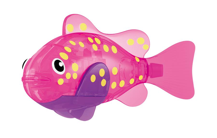 Игрушка для ванны Robofish Светодиодная РобоРыбка: Вспышка, цвет: розовый2541FИгрушка для ванны Robofish Светодиодная РобоРыбка понравится вашему малышу и превратит купание в веселую игру. Она выполнена из безопасного пластика с элементами металла в виде маленькой красочной рыбки. Игрушка прекрасно имитирует повадки настоящей рыбы. Траектория ее движения зависит от наклона хвоста. При соприкосновении с водой она начинает не только плавать, но и светиться. В целях экономии энергии игрушка отключается автоматически через 4 минуты. Для активации рыбки вытащите ее из воды на несколько секунд, а затем снова запустите в воду. Внутри рыбки находится специальный грузик, регулирующий глубину ее погружения. Если рыбка плавает на дне, не всплывая, - уберите грузик; если на поверхности - добавьте грузик. Набор включает подставку, на которой можно разместить рыбку, пока вы с ней не играете. Порадуйте вашего ребенка таким замечательным подарком! Игрушка работает от 2 батарей напряжением 1,5V типа LR44 (2 установлены в игрушку и 2 запасные).