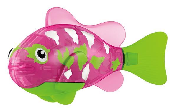 Игрушка для ванны Robofish Тропическая РобоРыбка: Собачка, цвет: розовый, салатовый2549-2Игрушка для ванны Robofish Тропическая РобоРыбка понравится вашему малышу и превратит купание в веселую игру. Она выполнена из безопасного пластика с элементами металла в виде маленькой красочной рыбки. При погружении в ванну, аквариум или другую емкостью с водой РобоРыбка начинает плавать, опускаясь ко дну и поднимаясь к поверхности воды. Игрушка прекрасно имитирует повадки настоящей рыбы. Траектория ее движения зависит от наклона хвоста. Внутри рыбки находится специальный грузик, регулирующий глубину ее погружения. Если рыбка плавает на дне, не всплывая, - уберите грузик; если на поверхности - добавьте грузик. Набор включает подставку, на которой можно разместить рыбку, пока вы с ней не играете. Порадуйте вашего ребенка таким замечательным подарком! Игрушка работает от 2 батарей напряжением 1,5V типа LR44 (2 установлены в игрушку и 2 запасные).