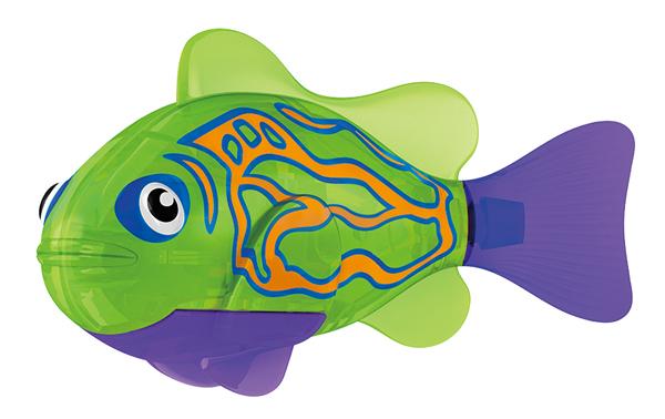 Игрушка для ванны Robofish Тропическая РобоРыбка: Мандаринка, цвет: зеленый2549-3Игрушка для ванны Robofish Тропическая РобоРыбка понравится вашему малышу и превратит купание в веселую игру. Она выполнена из безопасного пластика с элементами металла в виде маленькой красочной рыбки. При погружении в ванну, аквариум или другую емкостью с водой РобоРыбка начинает плавать, опускаясь ко дну и поднимаясь к поверхности воды. Игрушка прекрасно имитирует повадки настоящей рыбы. Траектория ее движения зависит от наклона хвоста. Внутри рыбки находится специальный грузик, регулирующий глубину ее погружения. Если рыбка плавает на дне, не всплывая, - уберите грузик; если на поверхности - добавьте грузик. Набор включает подставку, на которой можно разместить рыбку, пока вы с ней не играете. Порадуйте вашего ребенка таким замечательным подарком! Игрушка работает от 2 батарей напряжением 1,5V типа LR44 (2 установлены в игрушку и 2 запасные).