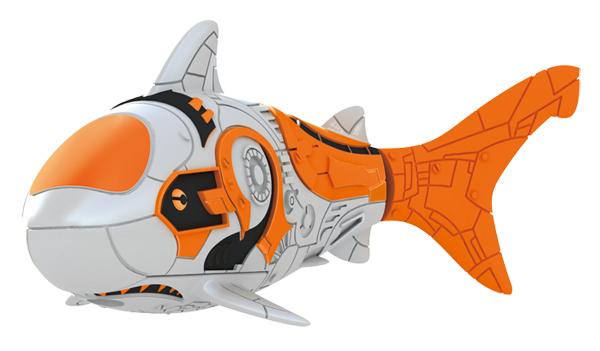 Игрушка для ванны Robofish Тропическая РобоРыбка: Акула, цвет: прозрачный, оранжевый2549-8Игрушка для ванны Robofish Тропическая РобоРыбка понравится вашему малышу и превратит купание в веселую игру. Она выполнена из безопасного пластика с элементами металла в виде маленькой красочной рыбки. При погружении в ванну, аквариум или другую емкостью с водой РобоРыбка начинает плавать, опускаясь ко дну и поднимаясь к поверхности воды. Игрушка прекрасно имитирует повадки настоящей рыбы. Траектория ее движения зависит от наклона хвоста. Внутри рыбки находится специальный грузик, регулирующий глубину ее погружения. Если рыбка плавает на дне, не всплывая, - уберите грузик; если на поверхности - добавьте грузик. Набор включает подставку, на которой можно разместить рыбку, пока вы с ней не играете. Порадуйте вашего ребенка таким замечательным подарком! Игрушка работает от 2 батарей напряжением 1,5V типа LR44 (2 установлены в игрушку и 2 запасные).
