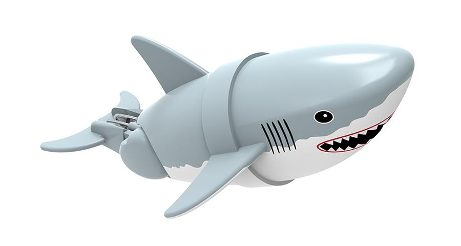 Игрушка для ванны Renwood Акула-акробат Джабон, цвет: серый, белый126212-4Игрушка для ванны Renwood Акула-акробат понравится вашему малышу и превратит купание в веселую игру. Она выполнена из безопасного пластика с элементами металла в виде маленькой красочной акулы. Рыбка-акробат умеет плавать и нырять. Траектория движения акулы зависит от наклона хвоста. Порадуйте вашего ребенка таким замечательным подарком! Игрушка работает от 2 батарей напряжением 1,5V типа ААА (не входят в комплект).