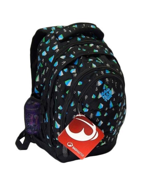 Рюкзак детский BagMaster BM-NIE 18 ABM-NIE 18 AСтуденческий рюкзак из полиэстера с тремя внутренними отделениями и отделением для ноутбука с диагональю 15,4 дюйма. Во внутренние отделения помещаются альбомы, тетради, контурные карты и так далее формата А4. Анатомическая спинка из воздухопроницаемого м
