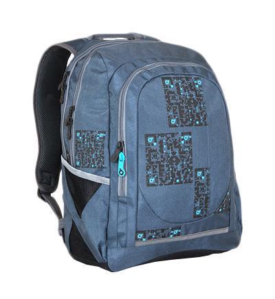 Рюкзак детский TOPGALHIT-813 / CСтуденческий рюкзак эргономичной формы с анатомической спинкой и тремя основными отделениями. Задняя часть армирована легкой алюминиевой рамкой. Широкие и мягкие плечевые ремни легко регулируются. Нагрудный ремень для фиксации рюкзака. В заднее отделение